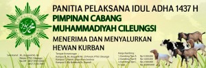 Spanduk Panitia Idul Qurban PCM Cileungsi 2016