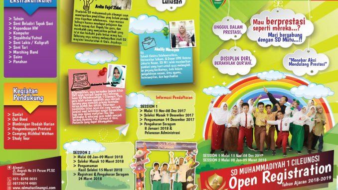 Penerimaan Siswa SD Muhammadiyah Cileungsi Tahun 2018