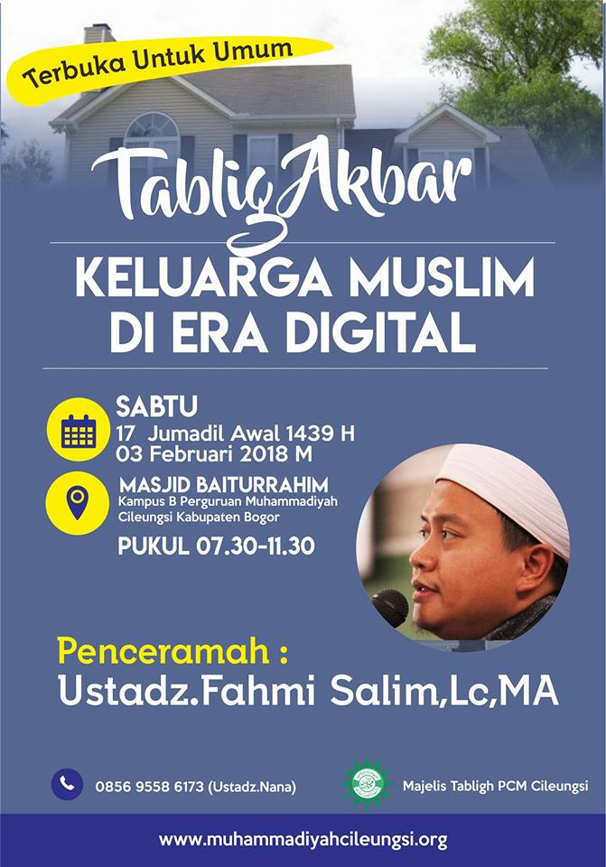 Poster Tablig Akbar PCM Cileungsi Fahmi Salim